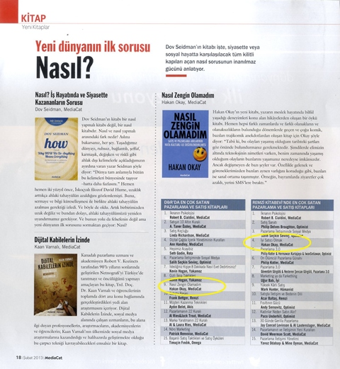 2.MediaCat Dergisi - Şubat 2013 - Sayfa 18