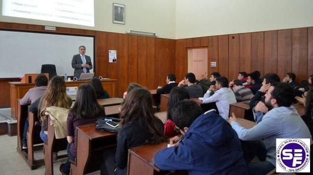 """13 Mart 2014 - İstanbul Üniversitesi Siyasal Bilimler Fakültesi """"Pazarlama ve Satış Arasındaki Farklar – Postmodern Pazarlama"""""""